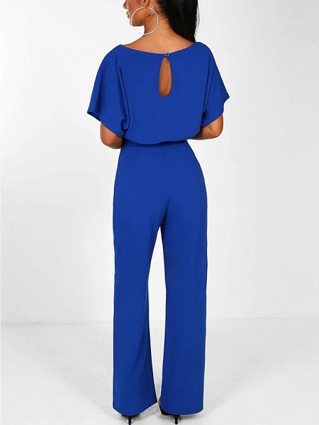 Women's Basic \ Street chic Black Blue Red Romper_10