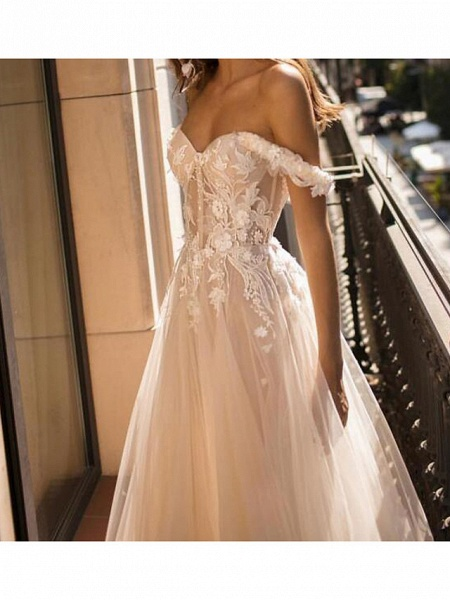 Lt8000885 Vintage Off The Shoulder Bohemian Wedding Dress_3