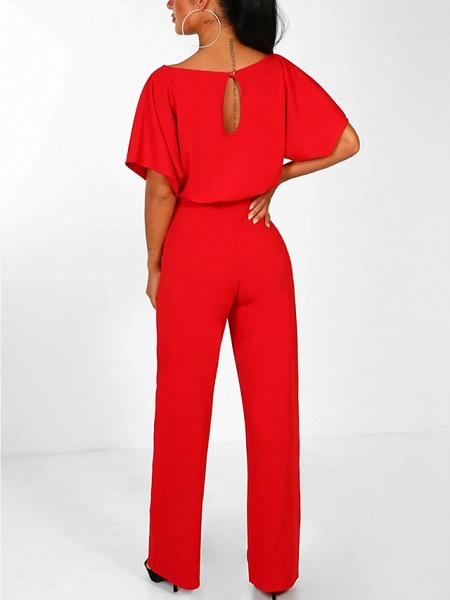 Women's Basic \ Street chic Black Blue Red Romper_6