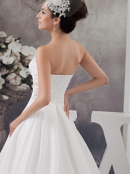 A-Line Wedding Dresses Strapless Chapel Train Satin Strapless_5