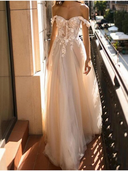 Lt8000885 Vintage Off The Shoulder Bohemian Wedding Dress_1