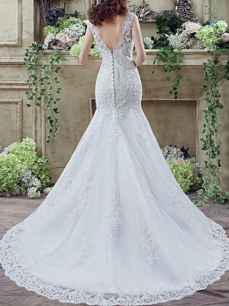 Lt7915217 Mermaid Lace Beads Vintage Bohemian Wedding Dress_2