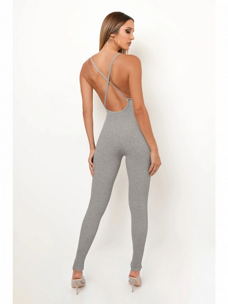 Women's Basic Khaki Gray Jumpsuit_4