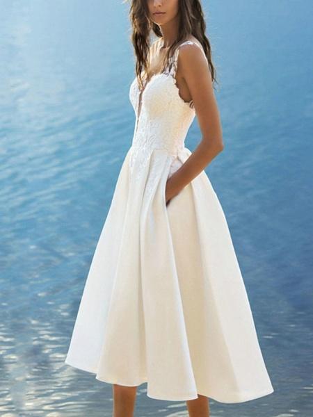 Lt7950340 Simple Tea Length Boho Wedding Dress_2