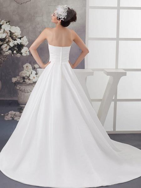 A-Line Wedding Dresses Strapless Chapel Train Satin Strapless_3
