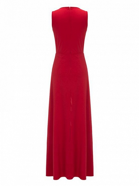Women's Wide Leg Daily Red Jumpsuit_5