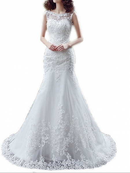 Lt7915217 Mermaid Lace Beads Vintage Bohemian Wedding Dress