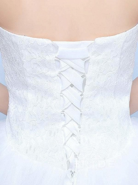 Simple Generous Lace Strapless off White Fashion Sexy Wedding Dresses_6