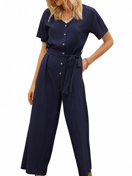Women's Yellow Navy Blue Jumpsuit_6