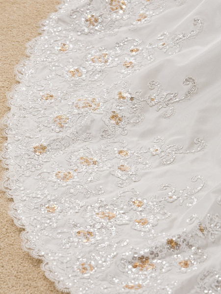 Ball Gown Sweetheart Neckline Court Train Taffeta Sleeveless Wedding Dresses_10