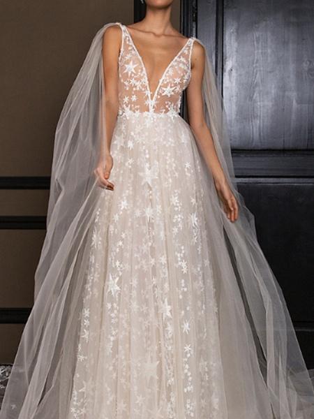Lt7922277 Simple A-line Appliques Boho Wedding Dress_1