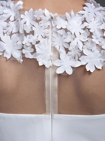 Sheath \ Column Wedding Dresses Jewel Neck Short \ Mini Chiffon Regular Straps Romantic Casual See-Through Plus Size Backless_10