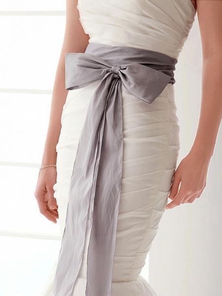 Mermaid \ Trumpet Wedding Dresses Strapless Floor Length Taffeta Sleeveless Wedding Dress in Color_8