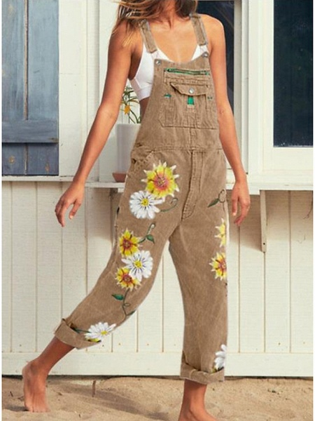 Women's Blue Blushing Pink Khaki Jumpsuit_3