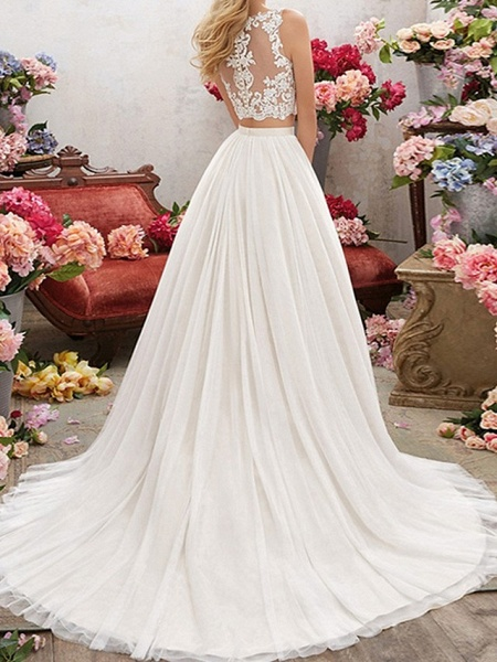 Lt7928518 V-neck Beading Belt Boho Wedding Dress_3