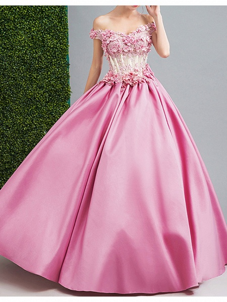 Ball Gown Wedding Dresses Strapless Floor Length Chiffon Tulle Cap Sleeve Formal Wedding Dress in Color Illusion Detail Plus Size_1
