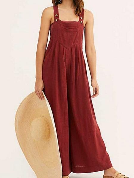 Women's Red Beige Gray Harem Romper_3