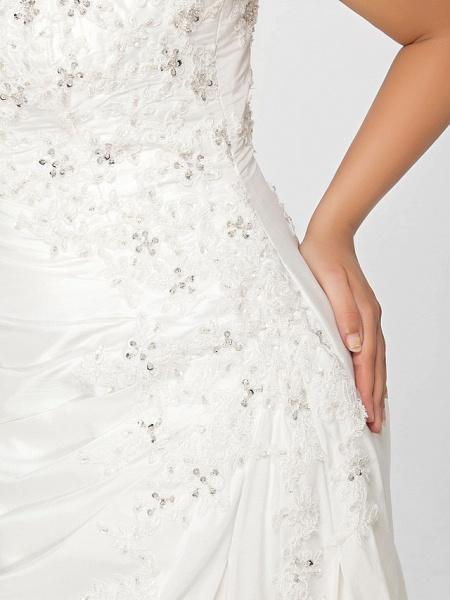 Mermaid \ Trumpet Wedding Dresses Square Neck Court Train Chiffon Regular Straps Vintage Sparkle & Shine Plus Size_10