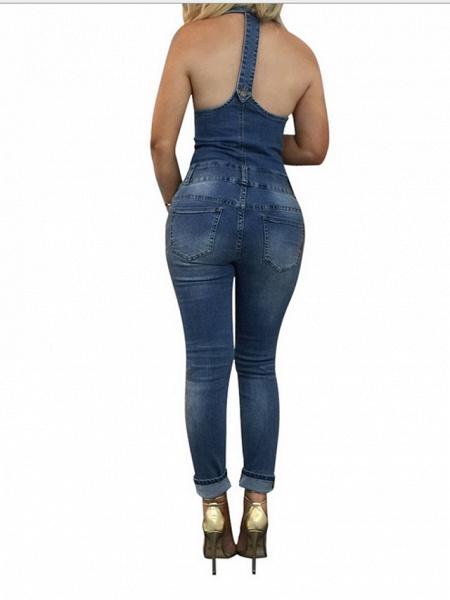 Women's Basic Blue Jumpsuit_2