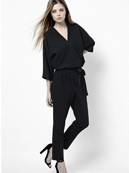 Women's Work Simple Jumpsuit - Solid Colored_6