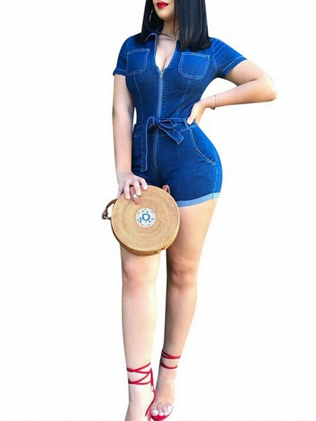 Women's Blue Romper