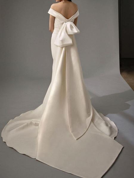Lt8036994 White Boho Mermaid Off The Should Wedding Dress_4