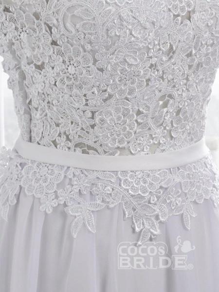 Cheap Jewel Backless Lace A-Line Wedding Dresses_9