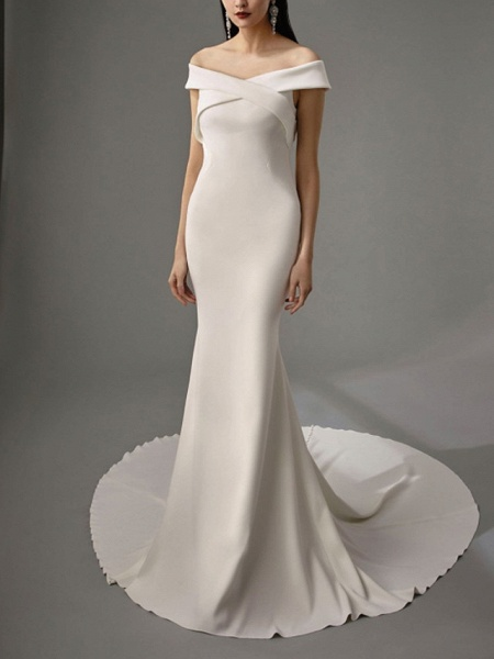 Lt8036995 Off The Shoulder Mermaid Vintage Bohemian Wedding Dress_1