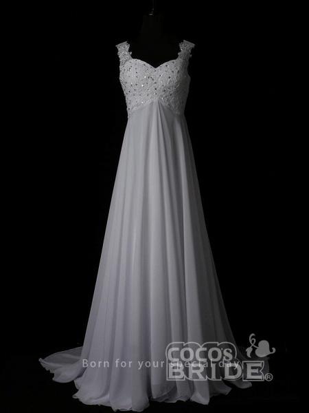 New Romantic Summer Bridal Dress Sleeveless Lace Wedding Dress_4