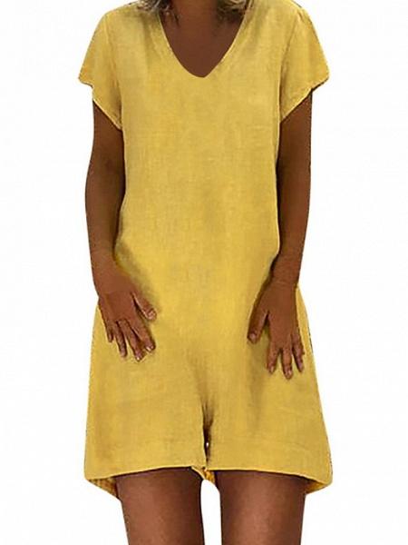 Women's Black Blue Yellow Romper_4