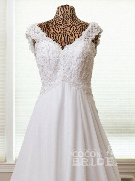 New Romantic Summer Bridal Dress Sleeveless Lace Wedding Dress_2