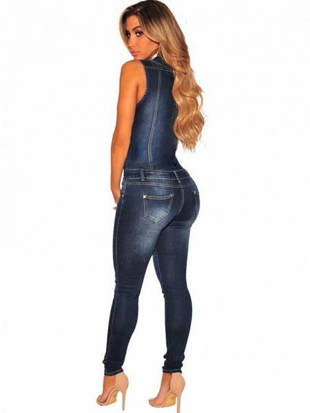 Women's Basic Blue Jumpsuit_3