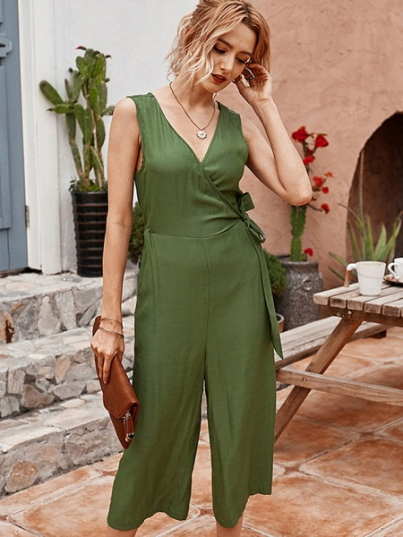 Women's Blue Army Green Jumpsuit
