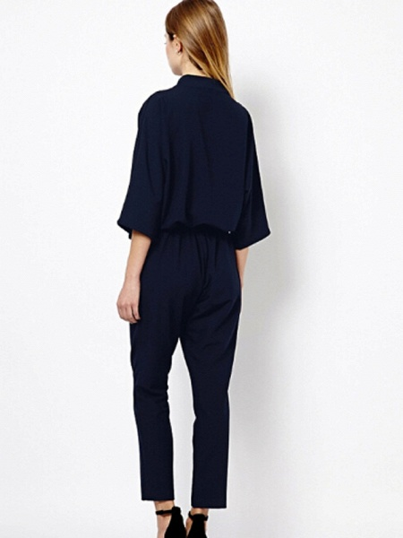 Women's Work Simple Jumpsuit - Solid Colored_3
