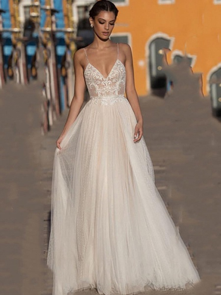 Beach Wedding Dress Boho Bohemian Lace Bridal Dress