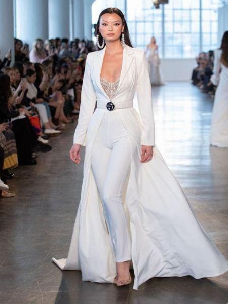Women's Basic White Jumpsuit_2