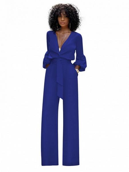 Women's Red Blue Black Wide Leg Slim Romper_1