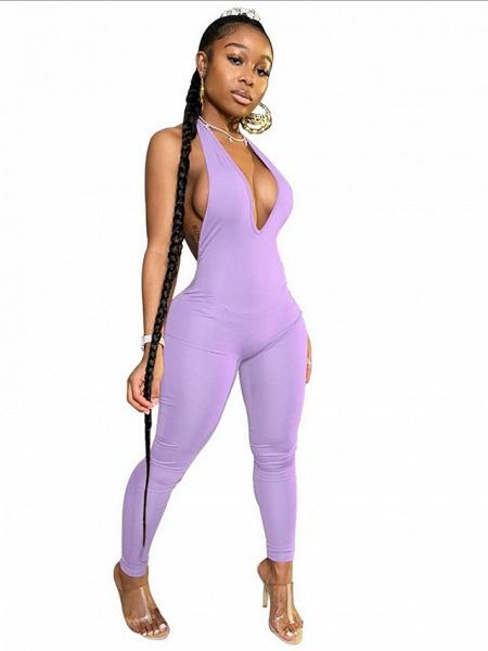 Women's White Black Purple Jumpsuit_5