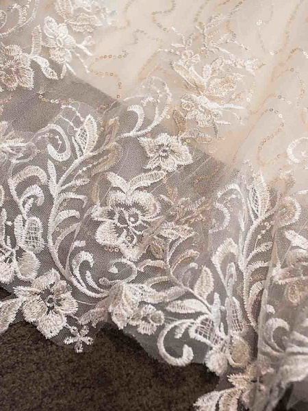 Ball Gown Wedding Dresses Strapless Court Train Tulle Strapless Country Glamorous Illusion Detail_9