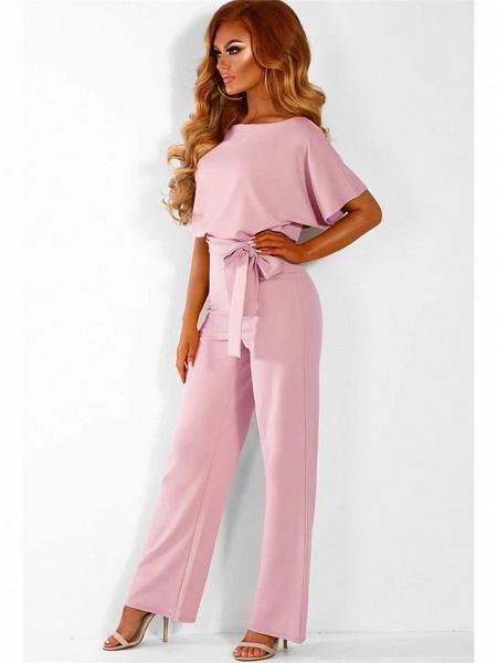 Women's Basic Black Blushing Pink Yellow Jumpsuit_7