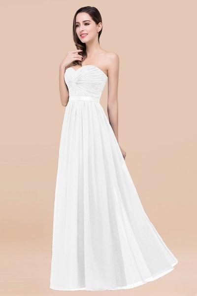 Elegant A-Line Chiffon Sweetheart Sleeveless Floor-Length Bridesmaid Dress with Ribbon_1