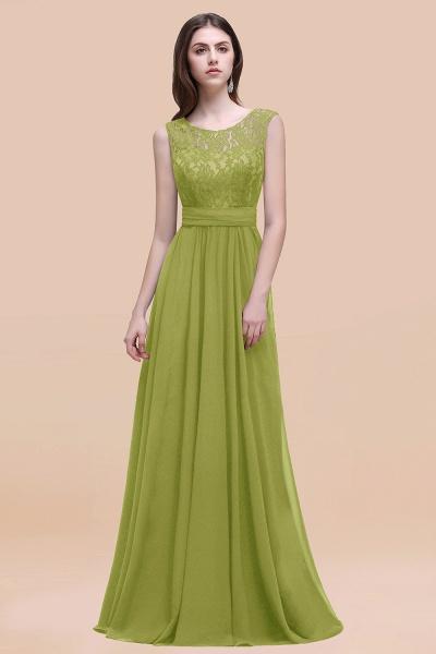 Elegant A-line Chiffon Lace Scoop Sleeveless Floor-Length Bridesmaid Dress_34