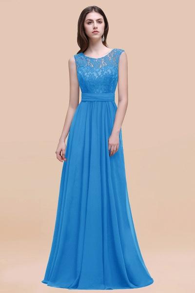 Elegant A-line Chiffon Lace Scoop Sleeveless Floor-Length Bridesmaid Dress_25