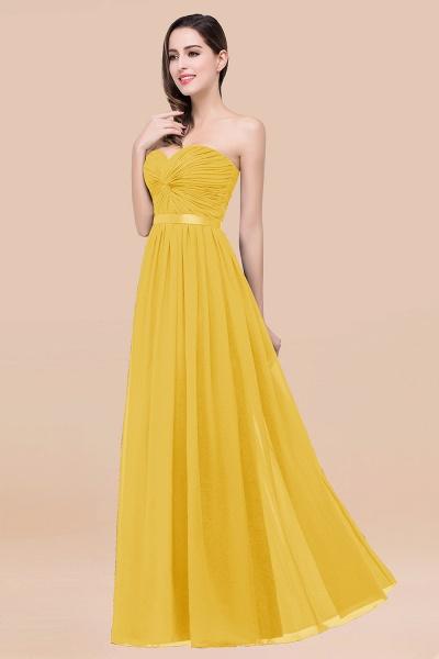 Elegant A-Line Chiffon Sweetheart Sleeveless Floor-Length Bridesmaid Dress with Ribbon_17
