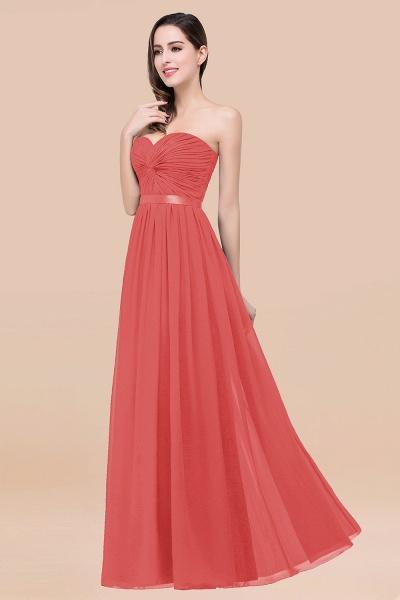 Elegant A-Line Chiffon Sweetheart Sleeveless Floor-Length Bridesmaid Dress with Ribbon_7