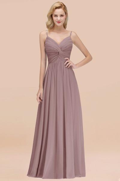 A-Line Chiffon V-Neck Spaghetti Straps Floor-Length Bridesmaid Dresses_37