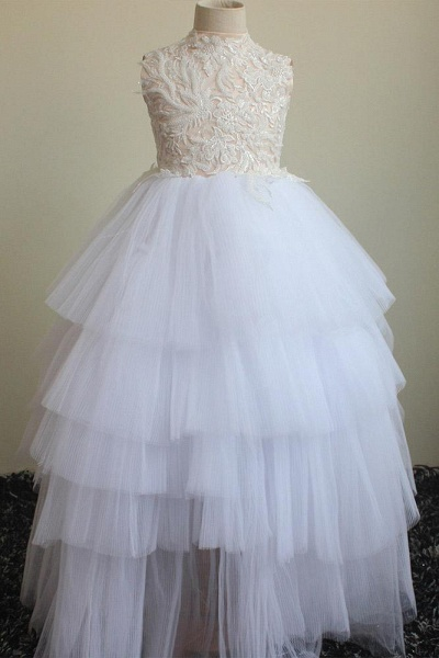 Scoop Neck Sleeveless Ball Gown Flower Girls Dress_1