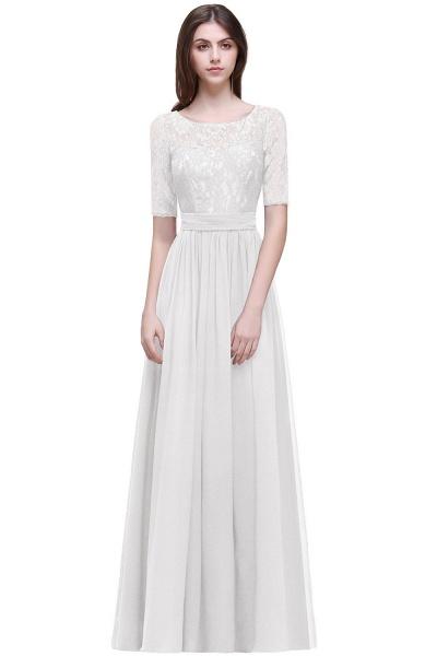 Fascinating Jewel Chiffon A-line Evening Dress_1