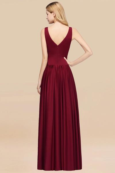 BM0141 A-Line V-Neck Sleeveless Long Ruffles Bridesmaid Dress_32