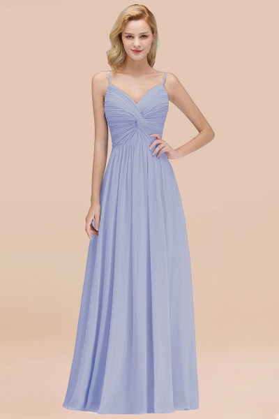 A-Line Chiffon V-Neck Spaghetti Straps Floor-Length Bridesmaid Dresses_22